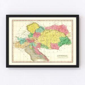 Vintage Map of Austria 1831