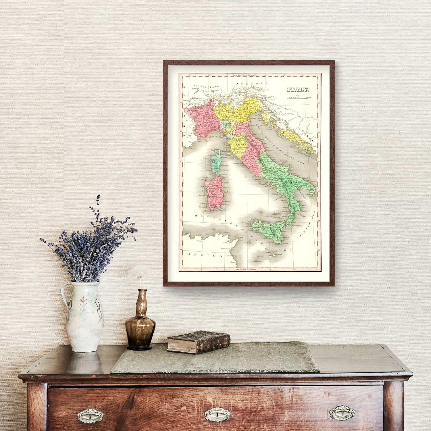 Vintage Map of Italy 1831