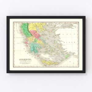 Vintage Map of Greece 1831