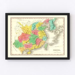 Vintage Map of China 1831
