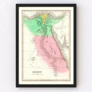 Vintage Map of Egypt 1831