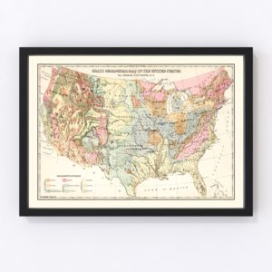 Geological Map of the United States 1882