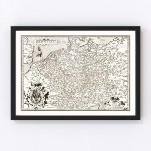 Vintage Map of Germania 1570