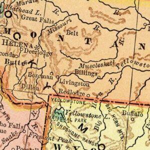 Vintage Montana Maps