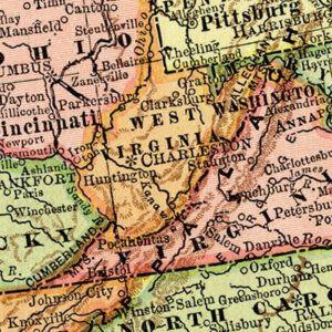 Vintage West Virginia Maps